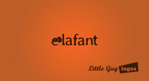 elefant custom logo design with texture and color