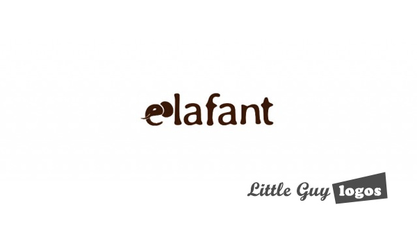 elafant custom logo design on white