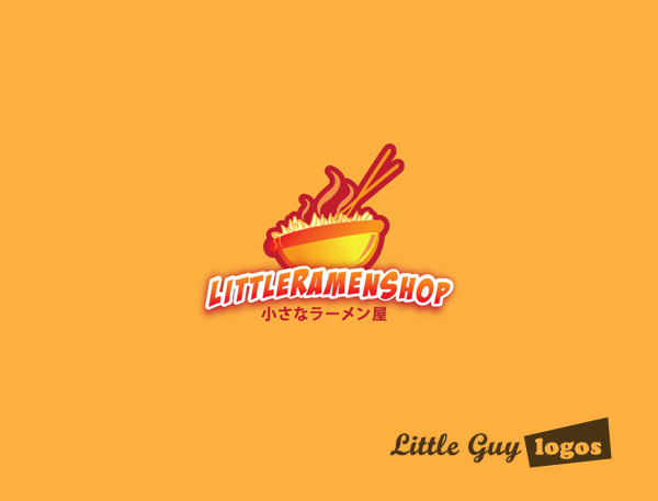 Little Ramen shop custom logo design 1