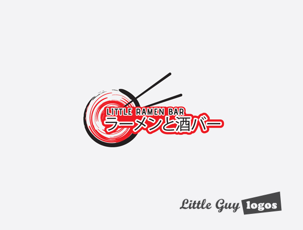 Little Ramen bar custom logo design 11