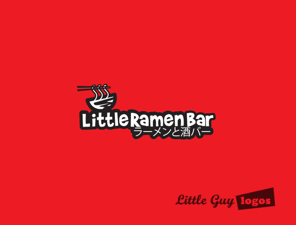 Little Ramen bar custom logo design 12