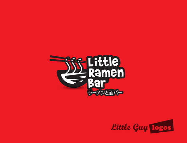 Little Ramen bar custom logo design 13