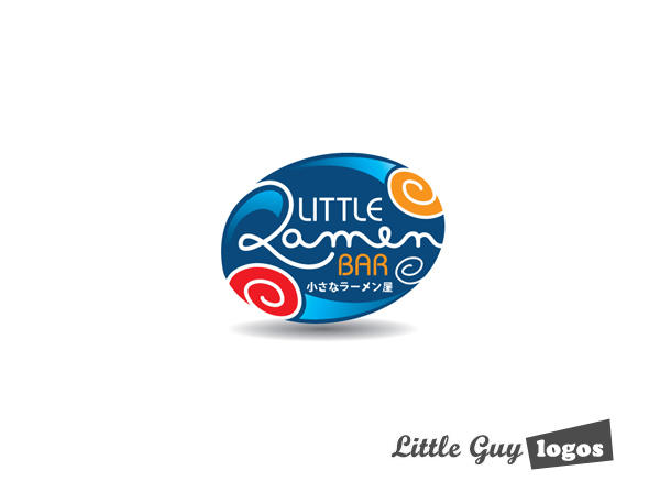 Little Ramen bar custom logo design 14