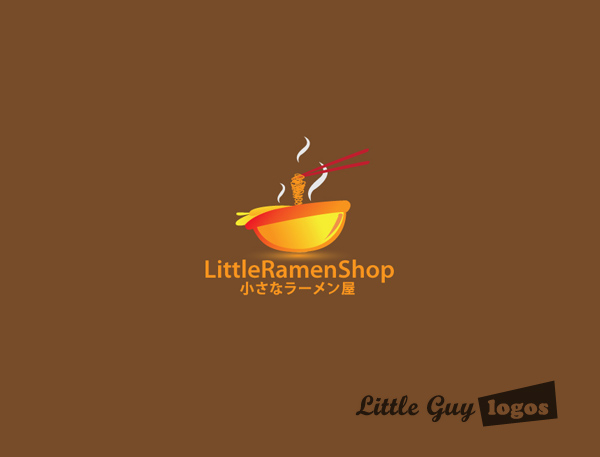 Little Ramen shop custom logo design 2