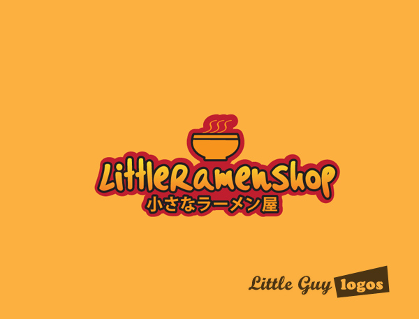 Little Ramen shop custom logo design 3