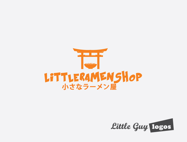 Little Ramen shop custom logo design 4