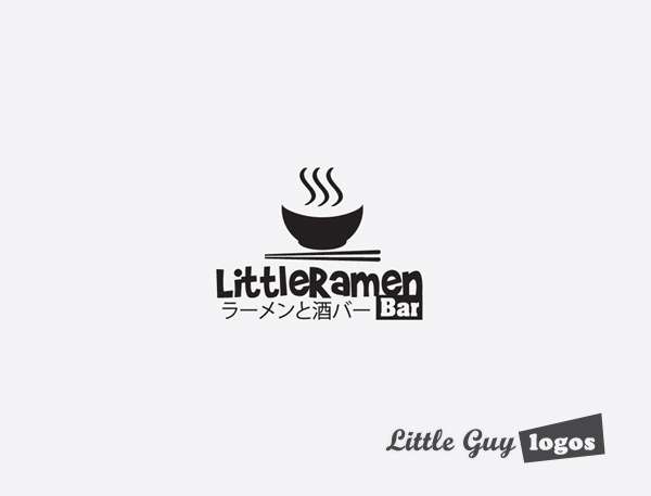 Little Ramen bar custom logo design 6