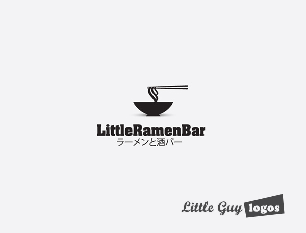 Little Ramen bar custom logo design 7