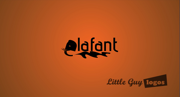 color background for elafant custom logo