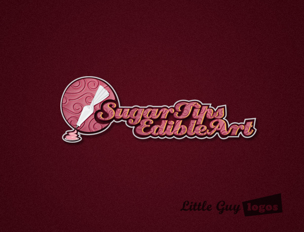 sugar tips custom logo design