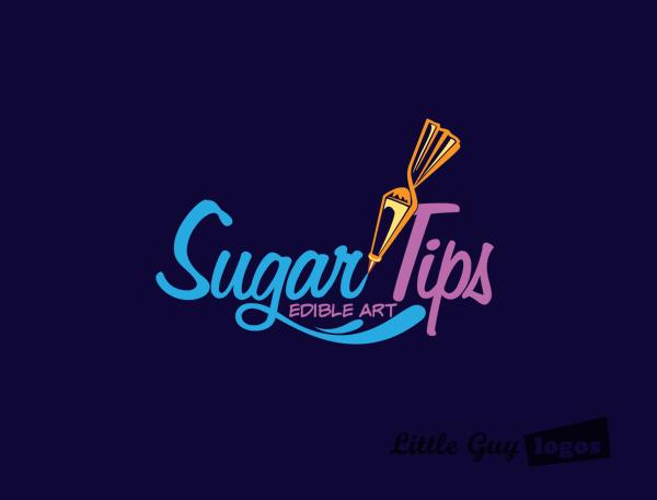 sugar tips custom logo design 3