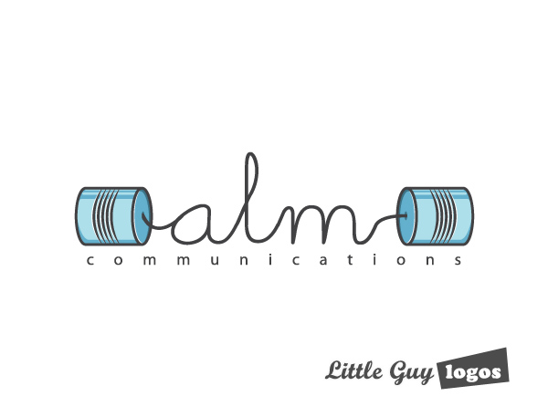 quirky communications company logo design 1