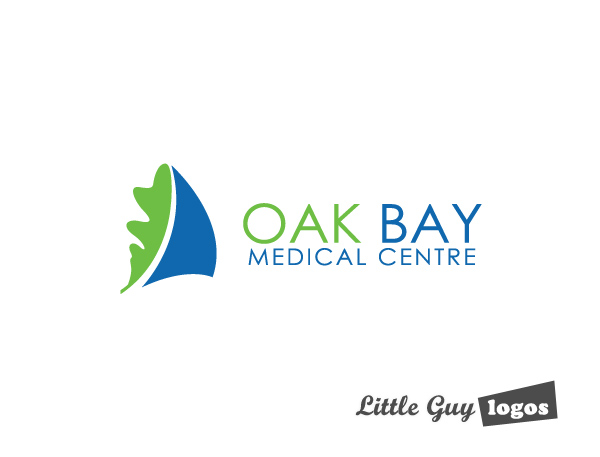 oak bay clinic custom logo design