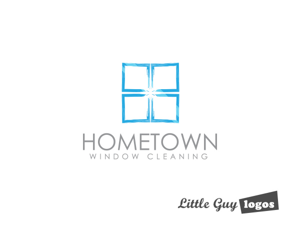 window cleaning company logo 2 little guy logos
