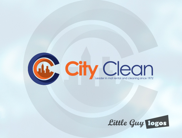 cleaning business logo design